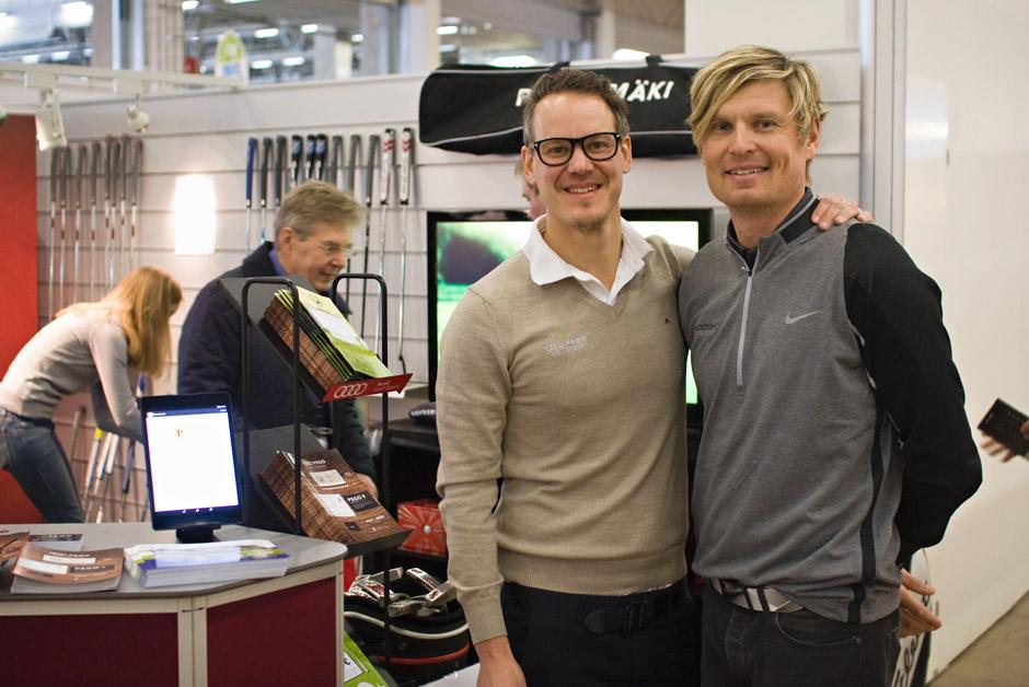 Juha-Pekka Peltomäki (vas.) ja Toni Karjalainen ovat tyytyväisiä PEGO Clubin saamaan vastaanottoon.