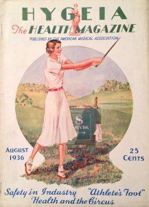 Golf on säännöllisesti näkynyt terveysaiheisten aikakauslehtien kansiaiheena.